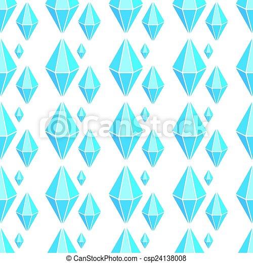 Vector geometric seamless pattern with diamonds - csp24138008