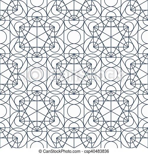 Vector Geometry Seamless Pattern - csp40483836