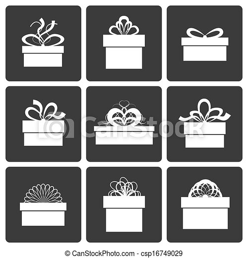 Vector Gift Box Icons - csp16749029