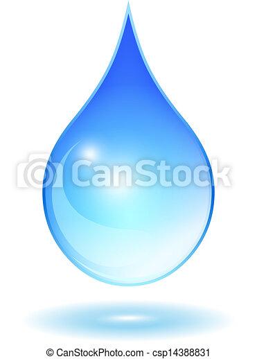 Vector glass water drop - csp14388831