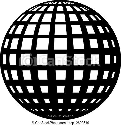 vector globe black symbol - csp12600519