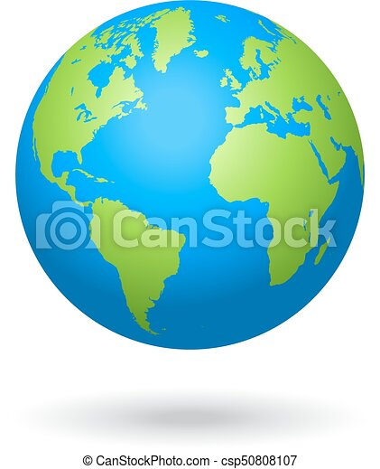 Vector globe colored world map detailed colored world map mapped vector globe colored world map gumiabroncs Gallery