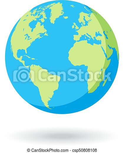 Vector globe colored world map detailed flat colored world map vector globe colored world map gumiabroncs Images