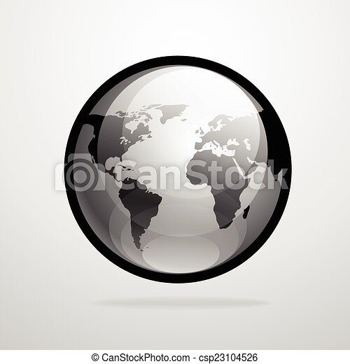 Vector globe icon world map silhouette illustration vector vector globe icon world map silhouette illustration gumiabroncs Gallery