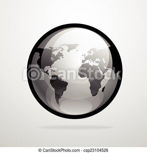 Vector globe icon world map silhouette illustration vector globe vector globe icon world map silhouette illustration gumiabroncs Image collections