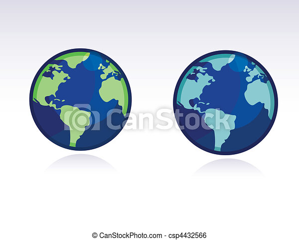 Vector globe world map vector globe of the world clip art vector globe world map csp4432566 gumiabroncs Image collections
