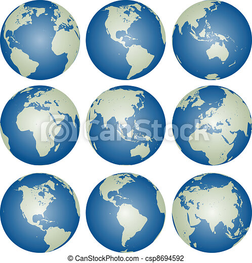 vector globes - csp8694592