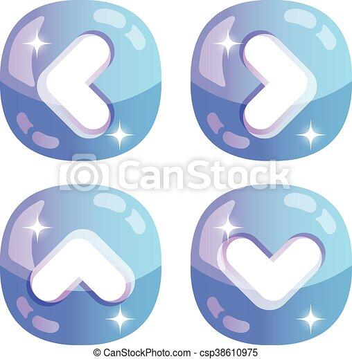 Vector glossy arrows icons set - csp38610975