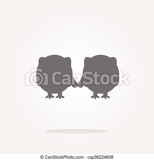 vector Glossy isolated website and internet web icon with owl symbol. Web Icon Art. Graphic Icon Drawing - csp36224608