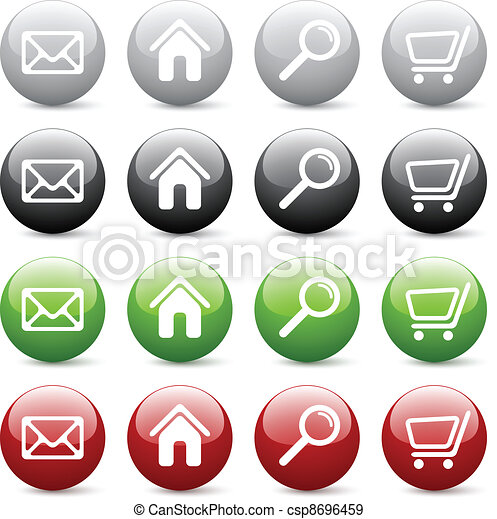 Vector glossy web buttons - csp8696459