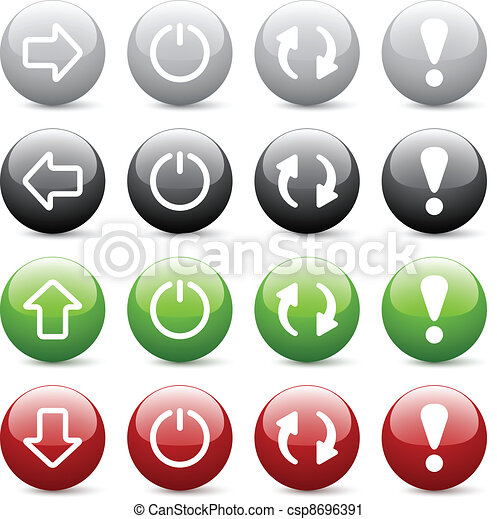 Vector glossy web buttons - csp8696391