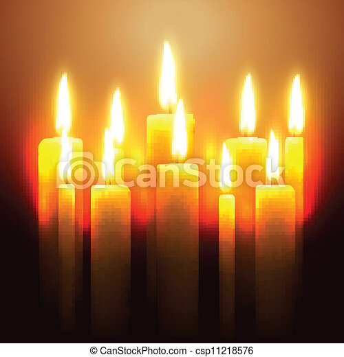 vector glowing candle - csp11218576