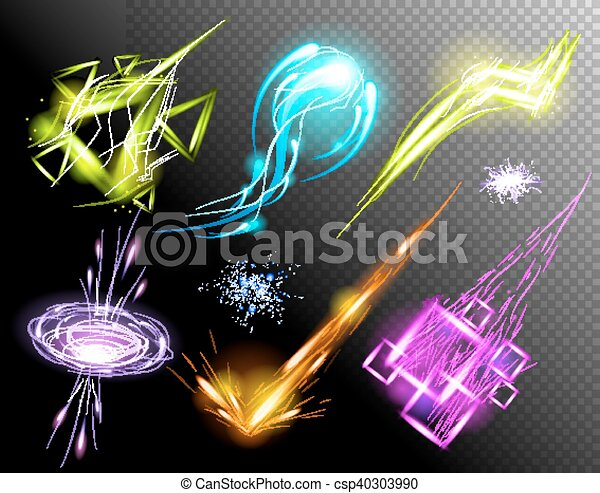 Vector Glowing Light Effect set - csp40303990