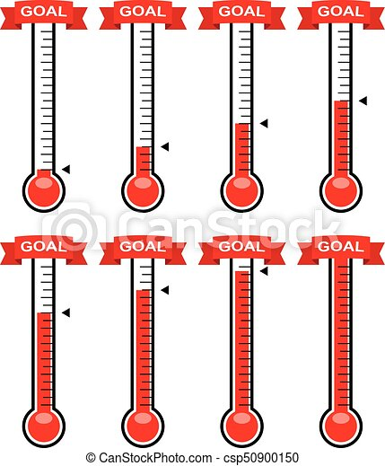 vector goal thermometers at different levels - csp50900150