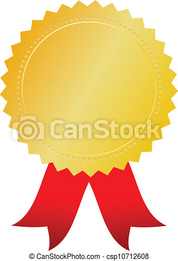 vector gold award token on white background vector clipart search rh canstockphoto com Silver and Gold Clip Art gold seal for award clipart