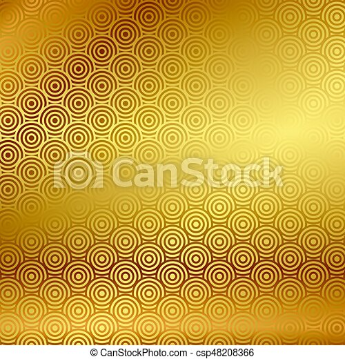 Vector gold background with pattern - csp48208366