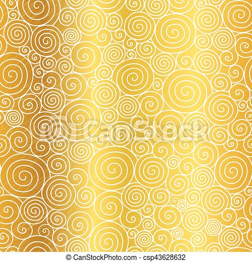 vector golden abstract swirls seamless pattern background great for