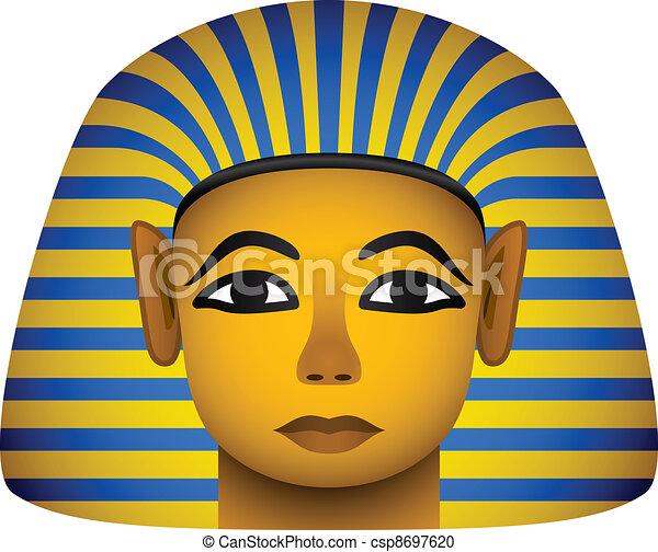 vector golden mask of the egyptian pharaoh - csp8697620