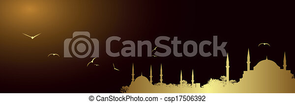 Vector golden mosque - csp17506392
