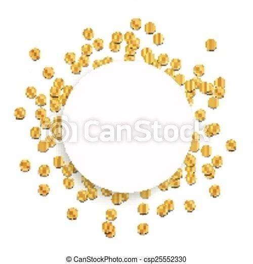 Vector Golden Party Background - csp25552330