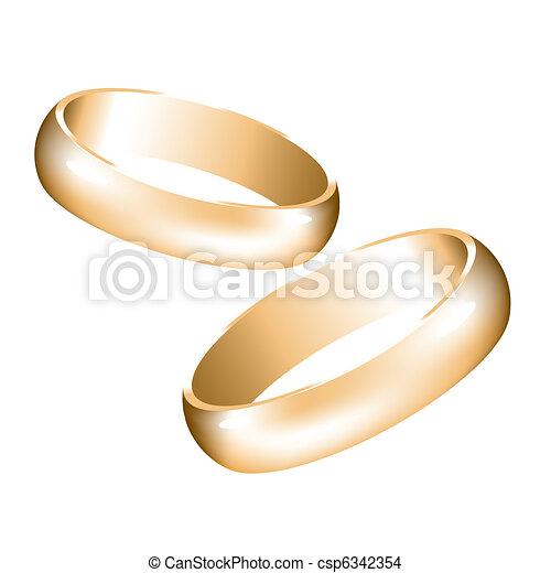 Vector golden wedding rings eps vector Search Clip Art