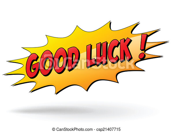 vector good luck sign vector illustration of good luck starburst rh canstockphoto com good luck clipart animated good luck clipart black and white