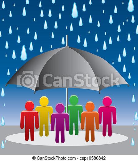 Protección de paraguas vector de gotas de lluvia - csp10580842