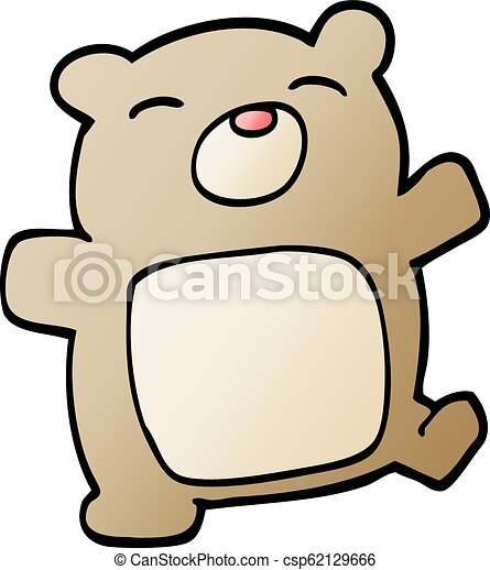 vector gradient illustration cartoon teddy bear - csp62129666
