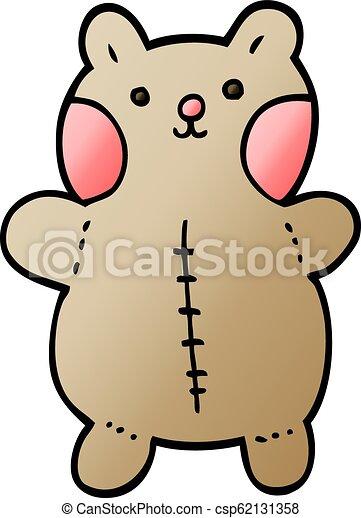 vector gradient illustration cartoon teddy bear - csp62131358