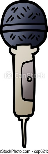 vector gradient illustration cartoon microphone - csp62129498