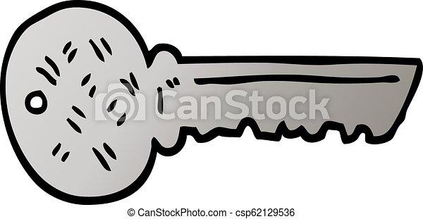 vector gradient illustration cartoon key - csp62129536