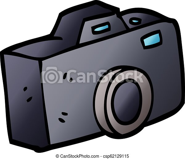 vector gradient illustration cartoon camera - csp62129115