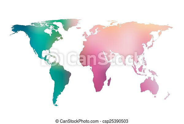 Vector gradient world map colorful gradient world map vector vector gradient world map gumiabroncs Image collections