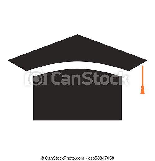 67aeb5648d4c9c vector graduation cap - education icon, academic university hat  illustration. - csp58847058