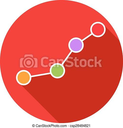 Gráfico de negocios. Ilustración de vectores. - csp28484821