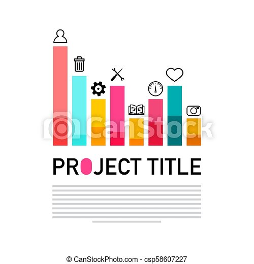 Vector Graph with Icons - Modern Project - csp58607227