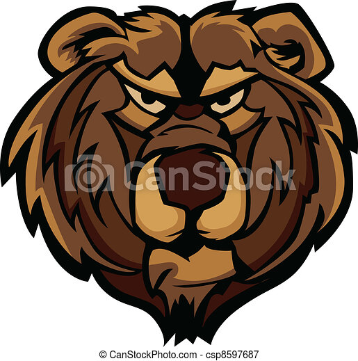 Vector Graphic of Grizzly Bear Masc - csp8597687