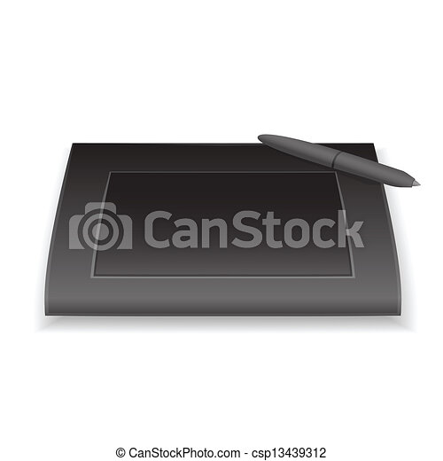 Vector graphic tablet - csp13439312