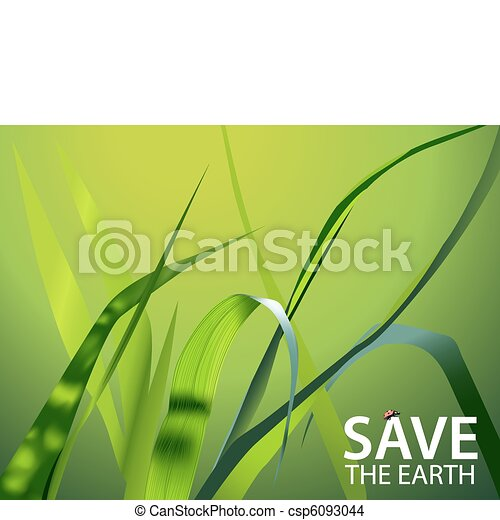 summer illustration green vector grass and ladybug eps vector rh canstockphoto com free vector grass brush free vector grass pattern