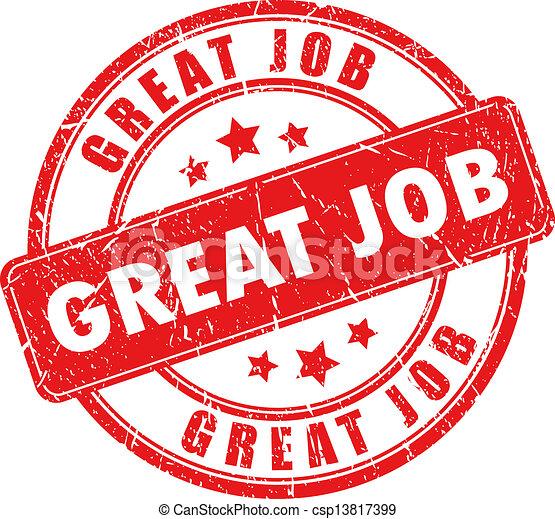 Vector great job stamp - csp13817399