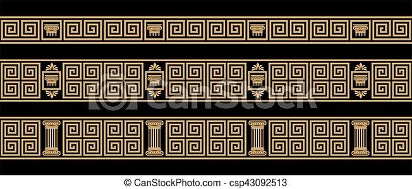Vector Greek ornament. - csp43092513