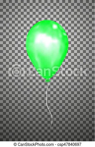 Vector green air balloon. Eps10. - csp47840697