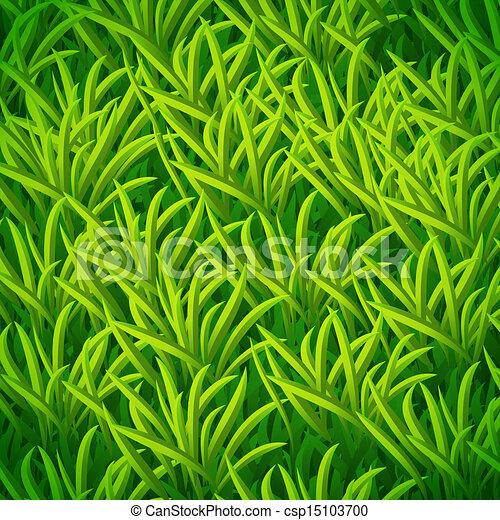 Vector green grass - csp15103700