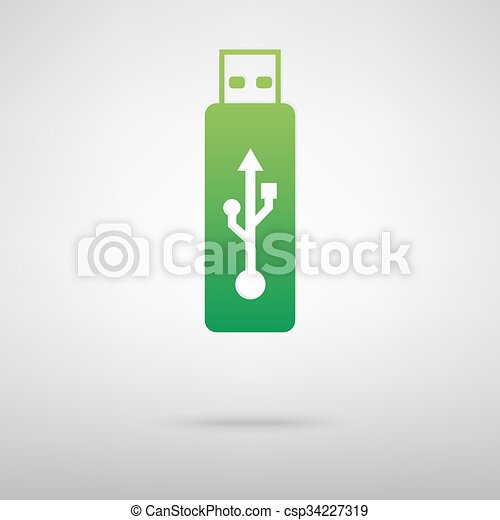 Vector green icon - csp34227319