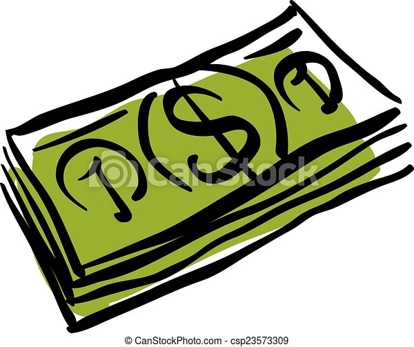 vector green money packet icon hand drawn bundle of money rh canstockphoto com money vector free money vector image