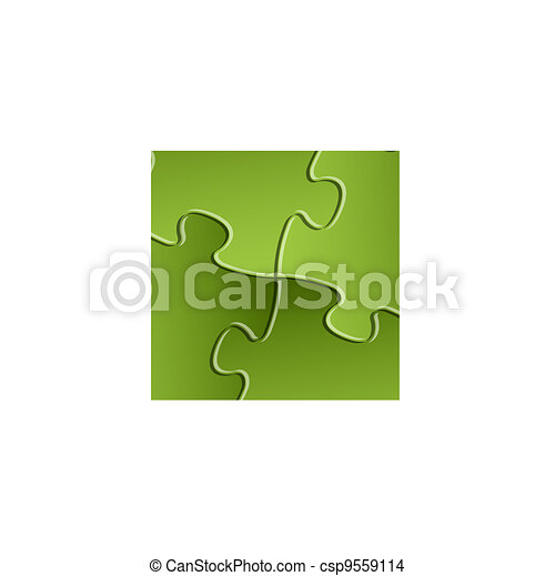 Vector green puzzle / solution background - csp9559114