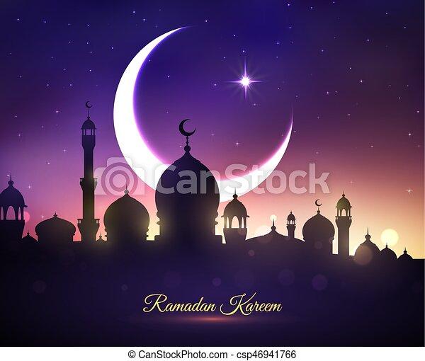 Vector greeting card for Ramadan Kareem holiday - csp46941766