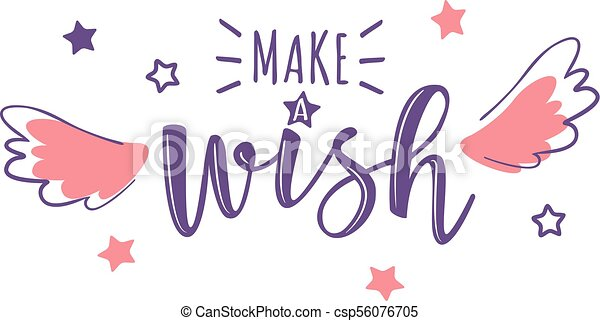 Vector greeting card with make a wish inscription can be used for vector greeting card with make a wish inscription can be used for cards flyers posters t shirts m4hsunfo