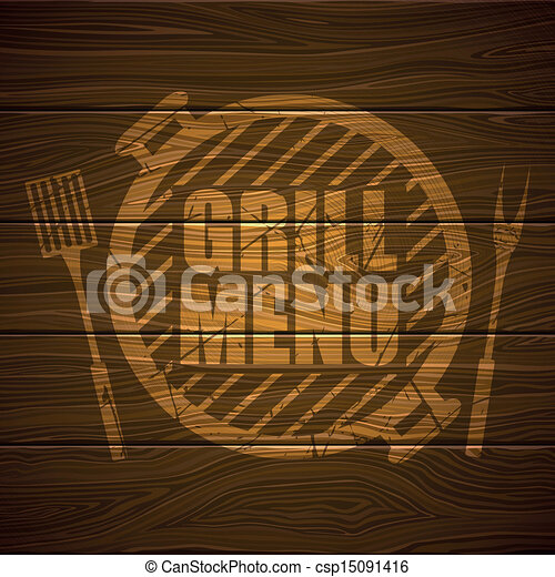 Vector Grill Menu Design Template - csp15091416