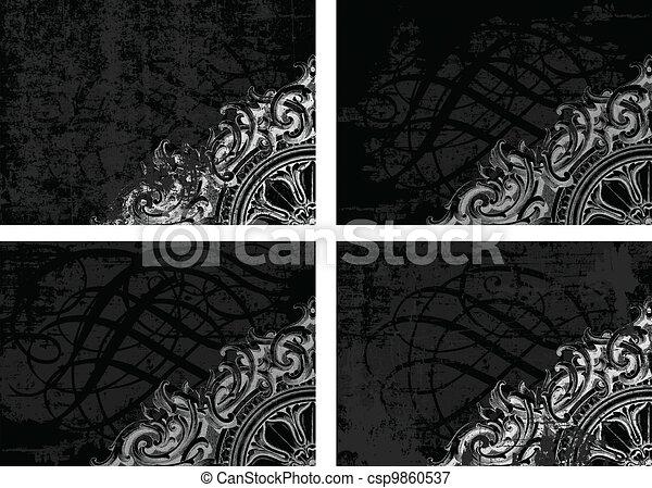 Vector Grunge Background Set - csp9860537